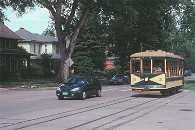 Street running with autos make for an authentic streetcar experience; Erik Ledbetter photo
